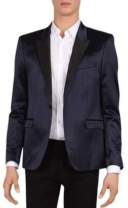 The Kooples Slim Fit Tuxedo Jacket with Satin Collar