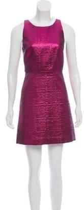 Milly Wool Mini Dress Fuchsia Wool Mini Dress