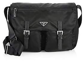Prada Women's Nylon& Saffiano Leather Messenger Bag