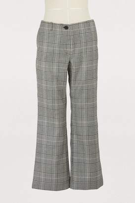 Aalto Cropped check trousers