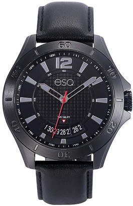 ESQ Men ESQ0180 Black Ip Stainless Steel Watch with Black Dial and Date Window