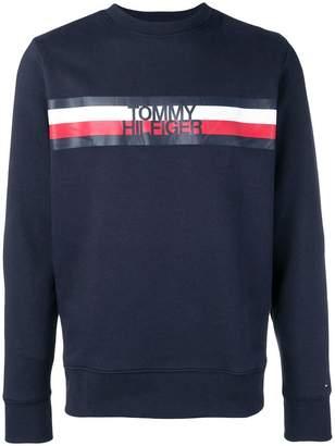 Tommy Hilfiger striped logo sweatshirt
