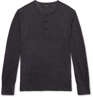 Ermenegildo Zegna Linen Henley T-Shirt