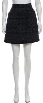 Burberry Wool Mini Skirt