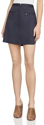 BCBGMAXAZRIA Jania Zip-Front Mini Skirt