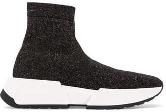 MM6 MAISON MARGIELA Lurex Sneakers - Black