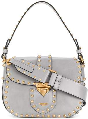 Moschino studded satchel bag