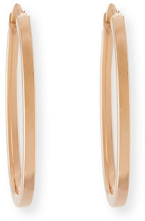 Roberto Coin Small 18K Gold Oval Hoop Earrings $420 thestylecure.com