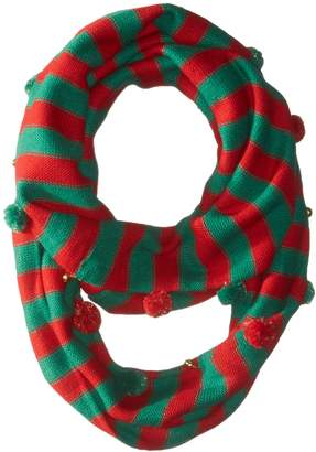 Collection XIIX Ltd. Women's Jingle and Pom Loop Scarf