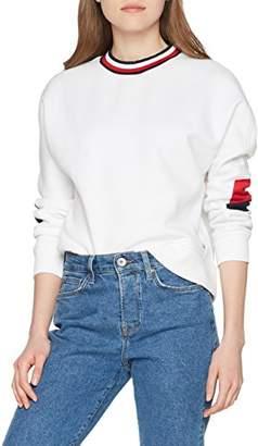 Tommy Hilfiger Women's Th Ath Bekki Clr Block Sweatshirt (Classic White 100), (Size: Large)