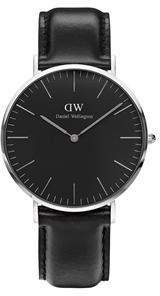 Daniel Wellington Classic Black Sheffield Silver Watch