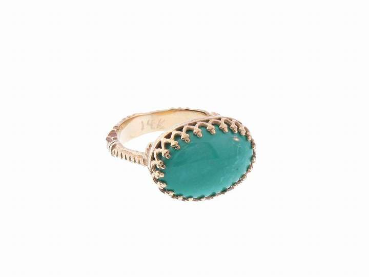 Oval Turquoise Filagree Ring