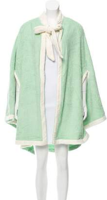 Lisa Marie Fernandez Tie-Accented Terry Cloth Cape