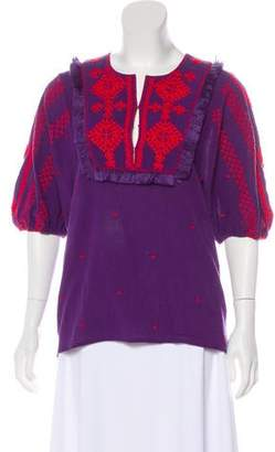Figue Long Sleeve Embroidered Blouse