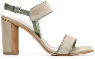 Sartore leather trim sandals