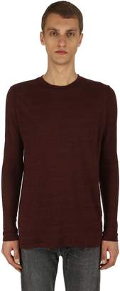 Isabel Marant Kindan Linen Jersey Long Sleeve T-Shirt