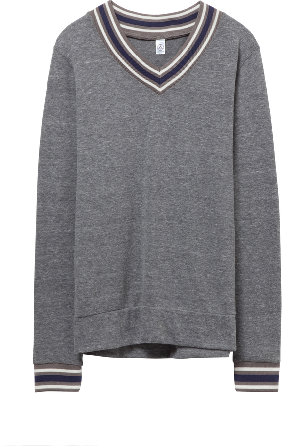Eco-Jersey V-Neck Sweatshirt