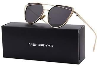 Cat Eye MERRY'S Fashion Women Sunglasses Coating Mirror Lens Sun glasses UV400 S7882