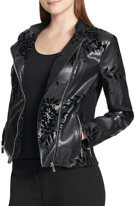 Calvin Klein Flocked Faux-Leather Jacket