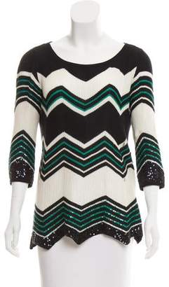 Calypso Embellished Chevron Sweater