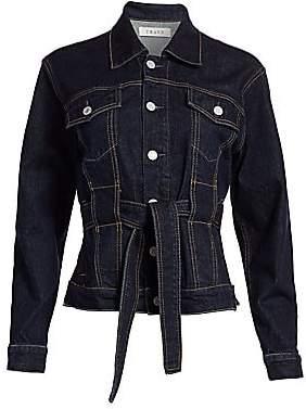 Trave Women's Adrienne Tie-Waist Denim Jacket