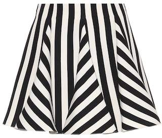 Valentino Striped wool and silk miniskirt