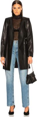 Sablyn Rumor Belted Leather Blazer