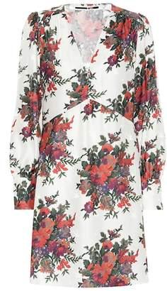 McQ Vintage Floral silk minidress
