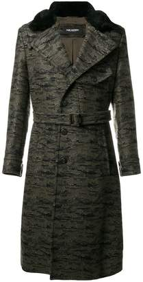Neil Barrett camouflage single-breasted coat