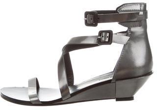 Alexander WangAlexander Wang Metallic Wedge Sandals