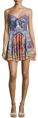 Camilla Embellished Tie-Front Sleeveless Mini Dress, Sunday Best $500 thestylecure.com