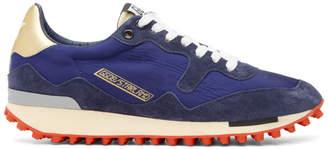 Golden Goose Blue Nylon Starland Sneakers