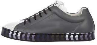 Fendi Face Leather Sneakers