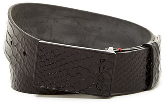 HUGO BOSS Guaro Snake Embossed Leather Belt $155 thestylecure.com