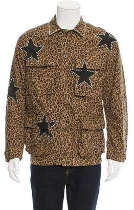 Amiri Studded Leopard Print Field Jacket w/ Tags