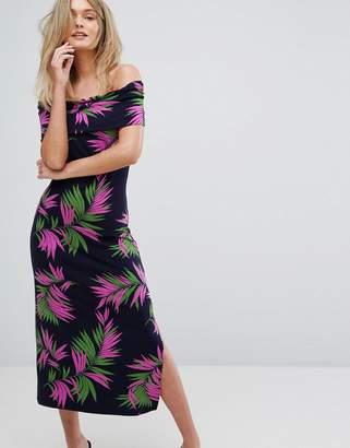 Warehouse Graphic Palm Print Midi Dress $64 thestylecure.com