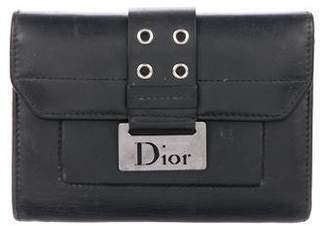 Christian Dior Leather Flap Wallet