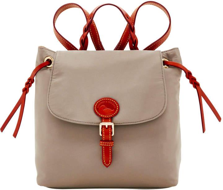 Dooney & Bourke Nylon Flap Backpack - GREY - STYLE