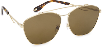 Givenchy Square Aviator Sunglasses $375 thestylecure.com