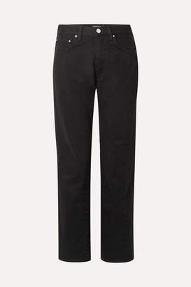Totême Original Mid-rise Straight-leg Jeans - Black