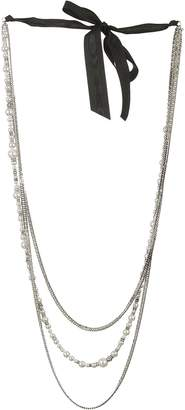 Lanvin Pearl-embellished Chain Necklaces