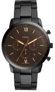 Fossil Neutra Chronograph Black Stainless Steel Watch