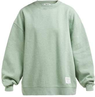 Acne Studios Fyona Loose Fit Cotton Jersey Sweatshirt - Womens - Green