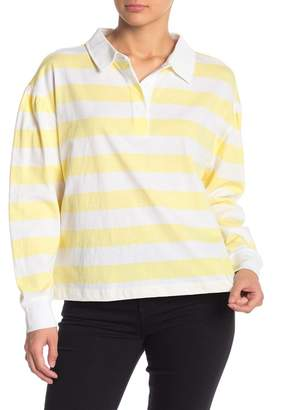 Abound Striped Long Sleeve Polo