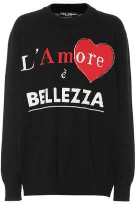 Dolce & Gabbana L'amore e Bellezza cashmere sweater