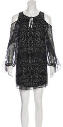 Haute Hippie Silk Cold-Shoulder Dress