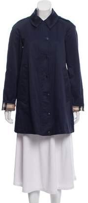 Burberry Nova-Check Lined Button-Up Jacket