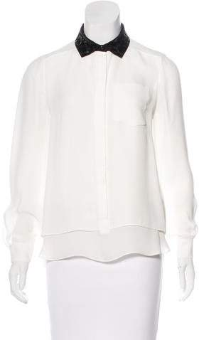 Kate Spade New York Long Sleeve Sequined Blouse