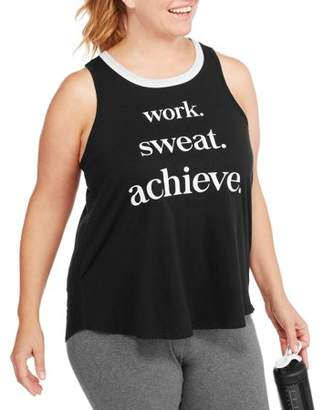 Fitspiration F.I.T. Women's Plus Work Sweat Achieve Workout Tank