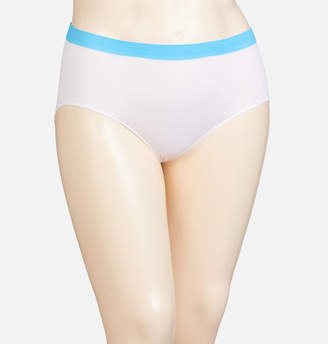 Avenue White Turquoise Stripe Seamless Modern Brief Panty